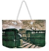 Cement Steps By A City Park Weekender Tote Bag