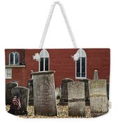 Cemetery And Church Weekender Tote Bag