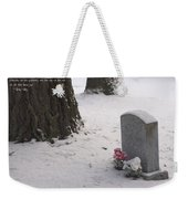 Cemetery In Winter Weekender Tote Bag