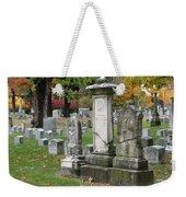 Cemtery Cracked Tombstones Weekender Tote Bag
