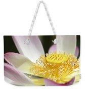 Center Of A Lotus Weekender Tote Bag