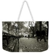 Central Park Bench Weekender Tote Bag