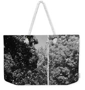 Central Park Flag In Black And White Weekender Tote Bag