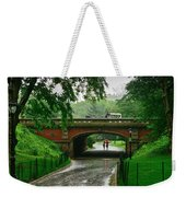 Central Park In The Rain Weekender Tote Bag