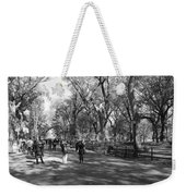 Central Park Mall In Black And White Weekender Tote Bag