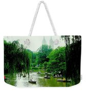 Central Park Pond Weekender Tote Bag