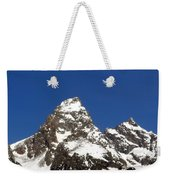 Central Teton Mountain Peak Weekender Tote Bag