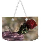 Chain Cholla Cactus Bloom Weekender Tote Bag