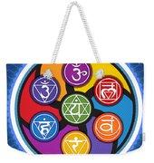 Chakra Circle Weekender Tote Bag
