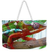 Chameleon Close Up Weekender Tote Bag
