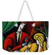 Champagne And Love Weekender Tote Bag by Leon Zernitsky