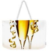 Champagne Glasses Weekender Tote Bag by Elena Elisseeva