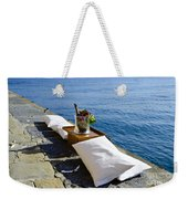 Champagne With Two Pillows Weekender Tote Bag