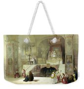 Chapel Of The Annunciation Nazareth Weekender Tote Bag