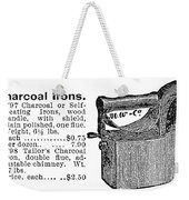 Charcoal Iron, 1895 Weekender Tote Bag