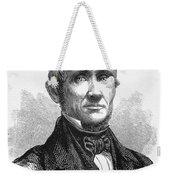 Charles Goodyear /n(1800-1860). American Inventor. Line Engraving, 19th Century Weekender Tote Bag