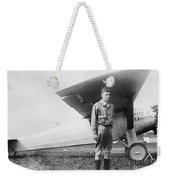 Charles Lindbergh American Aviator Weekender Tote Bag by Photo Researchers