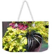 Chartreuse And Purple Plants Weekender Tote Bag