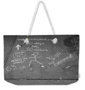 Cheap Advertising In N Y C In Black And White Weekender Tote Bag
