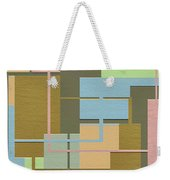 Check Weekender Tote Bag by Ely Arsha