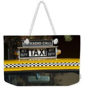 Checker Taxi Cab Duty Sign 2 Weekender Tote Bag