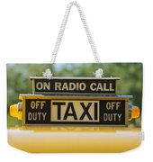 Checker Taxi Cab Duty Sign Weekender Tote Bag