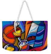 Cheese Weekender Tote Bag
