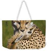 Cheetah Acinonyx Jubatus With Its Kill Weekender Tote Bag
