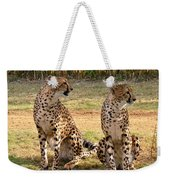 Cheetah Chat 1 Weekender Tote Bag