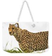 Cheetah Hunting Weekender Tote Bag