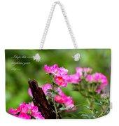 Cherokee Rose Card - Flower Weekender Tote Bag