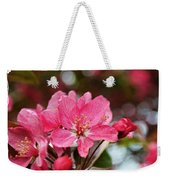 Cherry Blossom Greeting Card Blank With Decorations Weekender Tote Bag