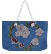 Cherry Blossom Heart Weekender Tote Bag