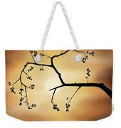 Cherry Blossom Over Dramatic Sky Weekender Tote Bag