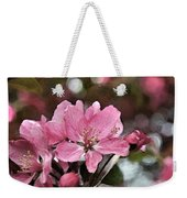 Cherry Blossom Photo Art And Blank Greeting Card Weekender Tote Bag