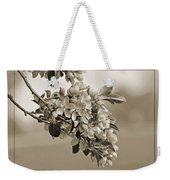 Cherry Blossoms Sepia Weekender Tote Bag
