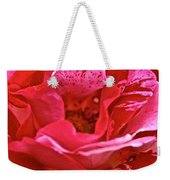 Cherry Chip Rose Petals Weekender Tote Bag
