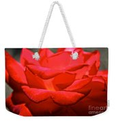 Cherry Red Rose Weekender Tote Bag