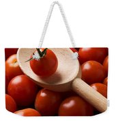 Cherry Tomatoes And Wooden Spoon Weekender Tote Bag