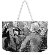Chester Alan Arthur Weekender Tote Bag