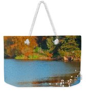 Chester In Autumn Weekender Tote Bag
