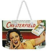 Chesterfield Cigarette Ad Weekender Tote Bag