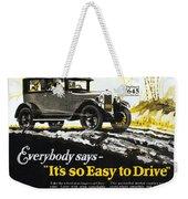 Chevrolet Ad, 1926 Weekender Tote Bag