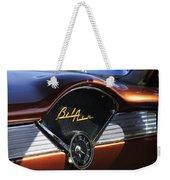 Chevrolet Belair Dashboard Clock And Emblem Weekender Tote Bag