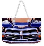 Chevrolet Pickup Truck Grille Emblem Weekender Tote Bag by Jill Reger