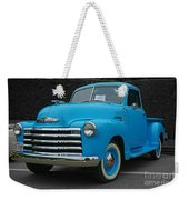 Chevy Pick-up With Bw Background Weekender Tote Bag