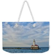Chicago Lighthouse Weekender Tote Bag