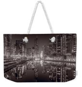 Chicago River East Bw Weekender Tote Bag