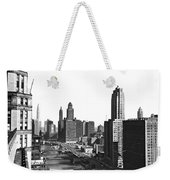 Chicago River In Chicago Weekender Tote Bag