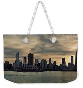 Chicago Skyline Navy Pier Weekender Tote Bag